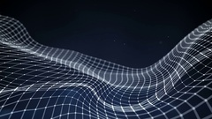 Sci-fi network 3D shape oscillating seamless loop animation 4k UHD (3840x2160) Stock Footage