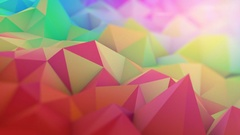 Multicolor 3D surface with shallow DOF seamles loop animation 4k UHD (3840x2160) Stock Footage