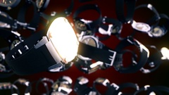 Abstract CGI motion graphics with flying watches Arkistovideo