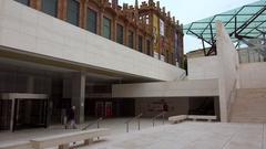 Caixaforum Museum, Casaramona. Barcelona, Spain. 4K. Stock Footage