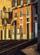 Alfama Neighbourhood in Lisbon Stock Photos