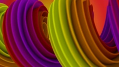 Twisted 3D shape spinning seamless loop 4k UHD (3840x2160) Stock Footage