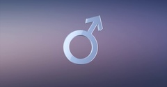 Man Gender Silver 3d Icon Stock Footage
