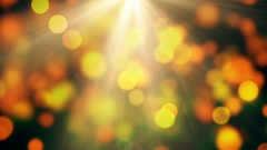 Yellow Abstract Lights bokeh background loop Stock Footage
