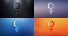 Woman Symbol 3d Icon Stock Footage