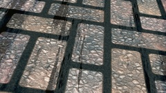 Battered stone floor masonry slipping  -     Video Footage Stock Footage