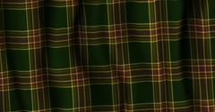 Plaid Tartan Scottish Material Stock Footage