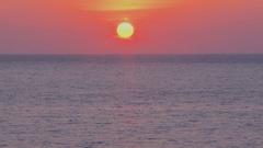 Sun rising over the sea, Japan Stock Footage