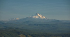 Snow-Capped Mount Jefferson: Beautiful Snowy Mountain Scenic Stock Footage