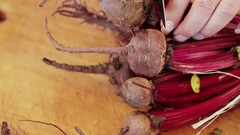 Cut Beets Stock Footage
