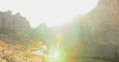 Smith Rock State Park Sunset Time Lapse Stock Footage