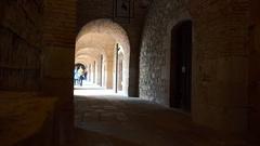 Montjuic Castle in Barcelona. Spain. 4K. Stock Footage