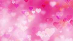Glittering Hearts Valentine's Day Abstract Background Stock Footage