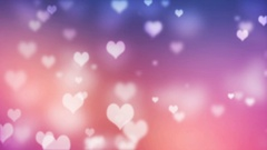 Abstract Glittering Hearts Valentine's Day Background Stock Footage