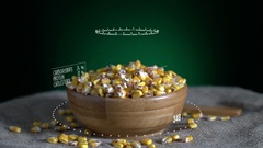 Infographic of Maize with vitamins, microelements minerals. Energy Stock Footage