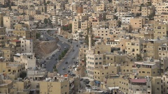 Jordanian capital city Amman Stock Footage