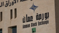 Closeup of the Amman Stock Exchange building Stock Footage