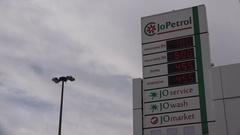 Petrol prices at a pump in Amman, Jordan Stock Footage