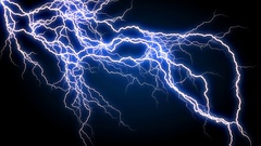 Blue Long Lightnings  -   Abstract  Video Footage Stock Footage