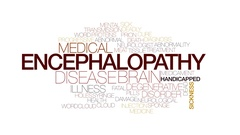 Encephalopathy animated word cloud, text design animation. Kinetic typography. Stock Footage