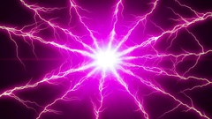Pink  Lightning  Plasma Discharge  -   Abstract  Video Footage Stock Footage