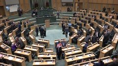 The Jordanian parliament has gathered for a voting session in Amman Stock Footage