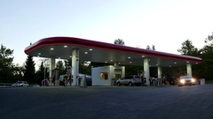 One side of Petro Canada gas station with 4k resolution. Stock Footage