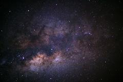 Close-up milky way galaxy with stars and space dust in the universe, Long e.. Kuvituskuvat