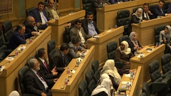 Middle East politics, Jordanian parliament members in national assembly Stock Footage