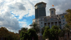 Barcelona. Spain. Architecture, old houses, streets and neighborhoods. 4K. Stock Footage