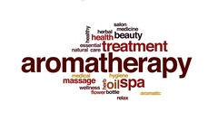 Aromatherapy animated word cloud, text design animation. Stock Footage