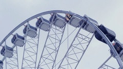 Observation, ferries wheel Stock Footage