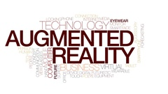 Augmented reality animated word cloud, text animation. Kinetic typography. Stock Footage