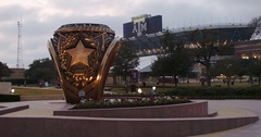 Texas Aggie Ring and Stadium Stock Footage