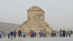 Pasargad Great Cyrus tomb Stock Footage