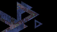 Triangle transition 24fps Stock Footage