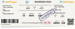 Boarding pass ticket for traveling by plane. Stock Illustration