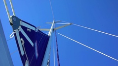 Sailing boat's foremast Stock Footage