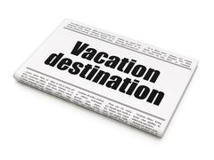 Travel concept: newspaper headline Vacation Destination Stock Illustration