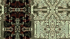 Integrated circuit board abstraction - HD Stock Video Stock Footage