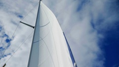 Outstanding white main mast Stock Footage