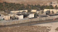 Small Israeli military compound in the West Bank Stock Footage