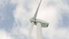 Wind turbine generating Stock Footage