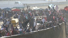 Crowds of people in Casablanca, Morocco, North Africa Stock Footage