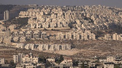 Israeli settlements in the West Bank (Har Homa, near Bethlehem) Stock Footage