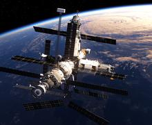 Space Station In Outer Space Piirros