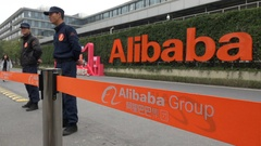 Head office of the Alibaba group in Hangzhou, China Stock Footage