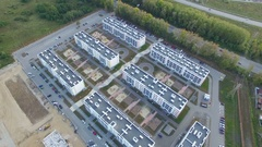 Top view of the district. Aerial shooting Stock Footage