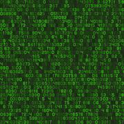 Seamless Green Decimal Computer Code Background Wallpaper. Vector Stock Illustration