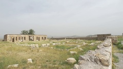 Pasargad Mozaffarid caravansarai Stock Footage
